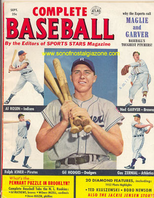 Complete Baseball Magazine September, 1952