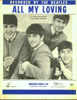 Beatles All My Loving Sheet Music